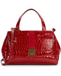 Marc Jacobs Croc-Embossed Leather Top-Handle Satchel - Lyst