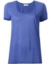 Moncler Scoop Neck T-Shirt - Lyst