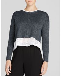 Eileen Fisher Cropped Linen Cardigan - Lyst