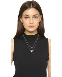 House of Harlow 1960 - Temple Pave Necklace - Lyst