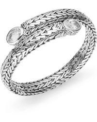 John Hardy Batu Classic White Topaz  Sterling Silver Coil Bracelet - Lyst