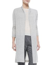 Theory Ashtry Lightweight Slub Open Cardigan - Lyst