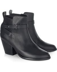 Rag & Bone Black Leather Dalton Ankle Boots - Lyst