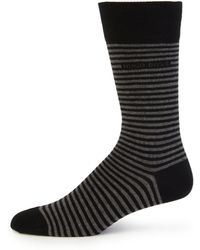 Boss by Hugo Boss Brian Striped Socks black - Lyst