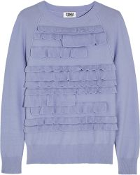Sonia by Sonia Rykiel - Tiered Knitted Sweater - Lyst