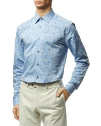 Paul Smith Venice Print Byard Shirt - Lyst