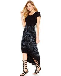 Kensie Black Printed Dress - Lyst