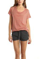 3.1 Phillip Lim Coral Silk Back T-Shirt pink - Lyst