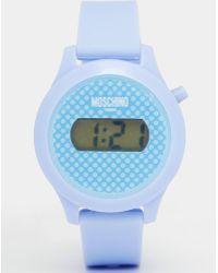 Moschino - Digital Teen Purple Watch - Lyst