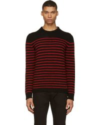 Diesel Black and Red Striped K_boletus Sweater - Lyst