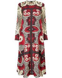 Valentino Floral Print Silk Maxi Dress - Lyst