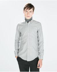 Zara Oxford Shirt - Lyst