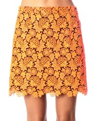 Christopher Kane Floral-lace Mini Skirt - Lyst