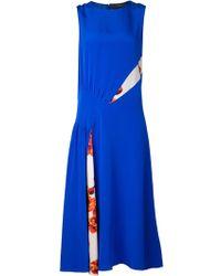 Thakoon Blue Pintucked Dress - Lyst