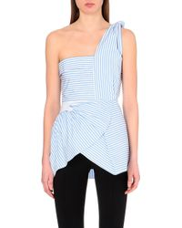 J.W. Anderson Beach Bodice One-Shoulder Cotton Top - For Women - Lyst