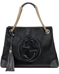 Gucci Soho Calf Hair Shoulder Bag - Lyst