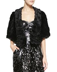 Milly Virginia Faux-fur Shoulder Wrap - Lyst