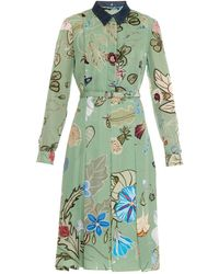 Gucci Flora Knight-Print Shirt Dress - Lyst