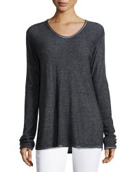 T By Alexander Wang Long-Sleeve Pullover Top - Lyst
