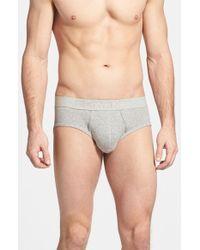 Calvin Klein 'Body' Cotton Briefs, (2-Pack) gray - Lyst