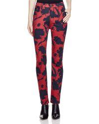 Jen7 - Skinny Jeans In Silhouette Floral - Lyst