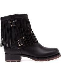 Valentino Fringed Ankle Boots - Lyst