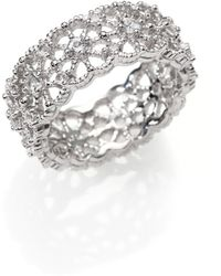 Judith Ripka White Sapphire Sterling Silver Lace Ring - Lyst