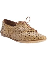 giraffe WALK | Brass Basket Weave Perforated Leather Bow Detail 'jaipur' Loafers | Lyst