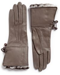 Georges Morand - Orylag Rabbit Fur Kid Leather Gloves - Lyst