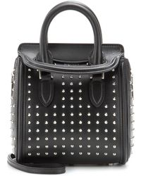Alexander McQueen Mini Heroine Leather Shoulder Bag - Lyst