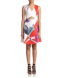 Clover Canyon X-Ray Lily Cutout Dress - Lyst