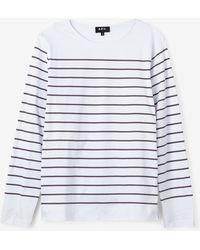 A.P.C. Lagoon Sailor Shirt gray - Lyst