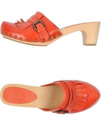 Ash Red Mules - Lyst