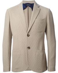 Giorgio Armani 'Tokyo' Pique Blazer beige - Lyst
