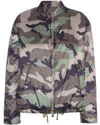 Valentino Camouflage Printed Bomber Jacket - Lyst