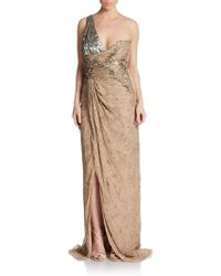 Valentino Embellished Silk Gown - Lyst