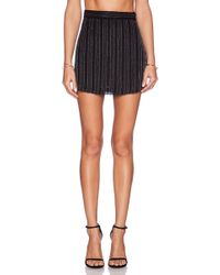 MLV - Miles Striped Sequin Mini Skirt - Lyst