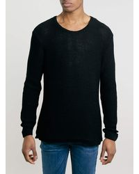 Lac Bk Tape Grunge Scoop Neck Jumper - Lyst