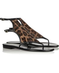 Tamara Mellon Jungle Fever Leopardprint Leather Sandals - Lyst