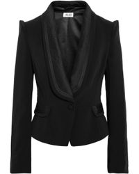 Alice By Temperley Alice Satin Trimmed Stretch Twill Jacket - Lyst