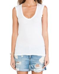 Velvet By Graham & Spencer Estina Gauzy Whisper Classics Tank - Lyst