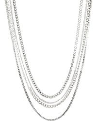 Asos Silver Necklace Pack - Lyst