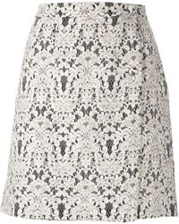 Ermanno Scervino Floral Lace Straight Skirt - Lyst