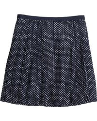 J.Crew Petite Stitched-Down Pleated Mini Skirt In Grid Dot - Lyst