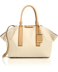 Michael Kors Lexi Large Two-Tone Leather Satchel - Lyst