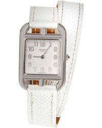 Hermès | White Cape Cod Double Tour Watch | Lyst