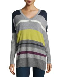 Autumn Cashmere Cashmere Striped Pullover Sweater - Lyst