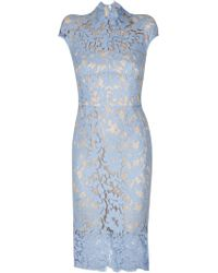 Lover Warrior Lace Midi Dress In Cornflower blue - Lyst