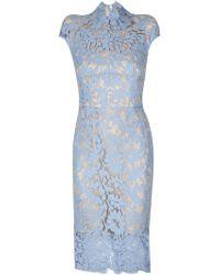 Lover Warrior Lace Midi Dress In Cornflower blue - Lyst