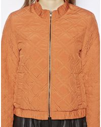 NW3 by Hobbs | Lola Quilted Bomber Jacket | Lyst